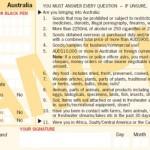 Zanim wylądujesz w Australii. Karta pasażera.