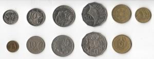monety australisjkie awers