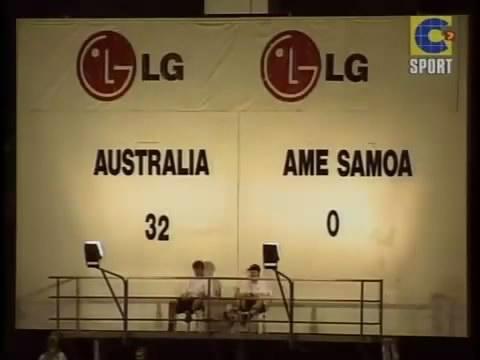 Australia-Samoa Zachodnie 31:0 w piłkę kopaną