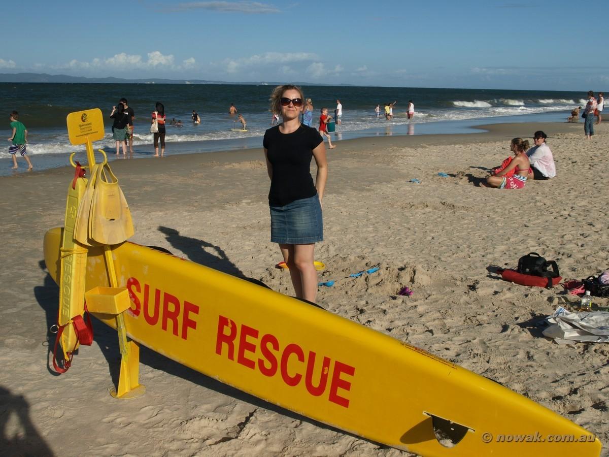Ratownicy na plaży w Woorim – Bribie Island