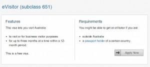 wiza do australii dla polaków eVisitor subclass 651